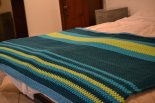granny stripes blanket with fleece backing